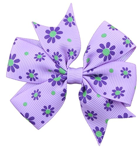 Wehous 12 PCS 3 Grosgrain Ribbon Hair Bows Clips for Baby Girl Teens Toddlers Kids Children Pink