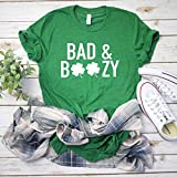 Drinking St Patty's day shirt Bad and Boozy Shirt Women's St Patricks day tee Funny St Patty tee Boozy shirt