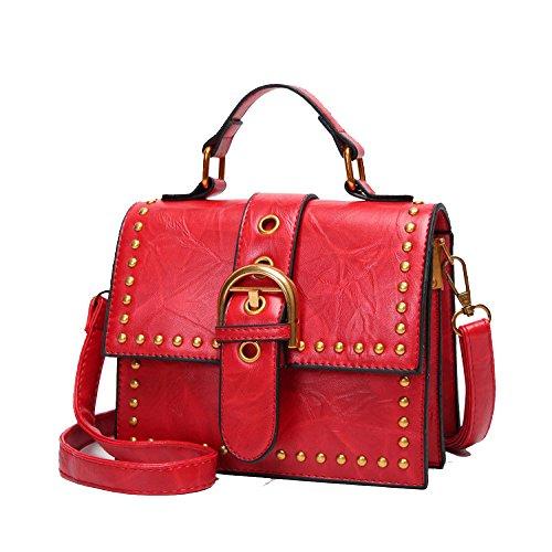 à en Sac pour Lady Style le rétro rouge shopping Zllnsxkb bandoulière FTxUwqH55