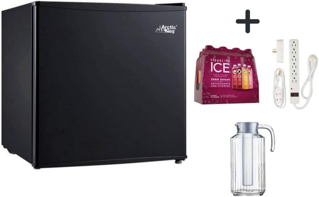 Arctic King 1.6 Cu Ft Single Door Mini Fridge in Black