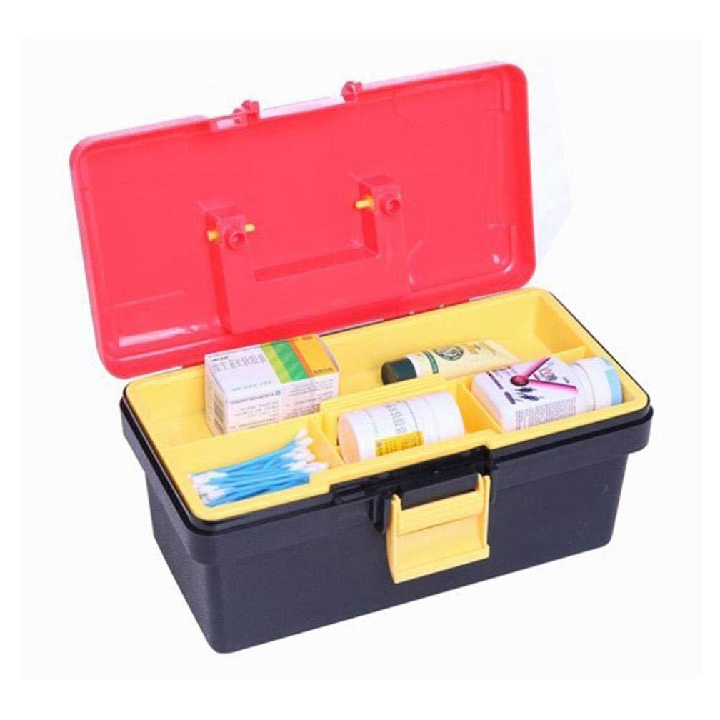 Storage Box, Yezijin Perfect Portable Plastic Toolbox Durable Double-Deck Tool Box Case 30 x 15 x 15 CMU