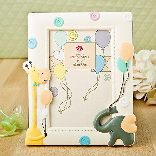 15 Adorable Giraffe And Elephant Baby Frame 4X6