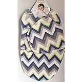 Blankets & Beyond Boys Chevron Swaddle Bag (0-3 months)
