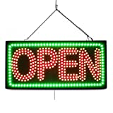 Large LED Open Sign ''OPEN 3Line'' 12''X24'' size, ON / OFF / FLASHING MODE (LED-Factory #819fba)