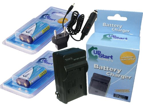 2x Pack - Kodak CR-V3 Battery + Charger with Car & EU Adapters - Replacement for Kodak CR-V3 Digital Camera Battery and Charger (1300mAh, 3.3V, Lithium-Ion) by UpStart Battery