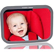 Back Seat Mirror by Freddie and Sebbie - Rear Facing Car Seat Interior Mirrors For Baby and Mum