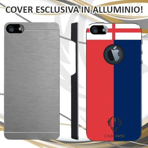 CUSTODIA COVER CASE GENOA PER IPHONE 5 5S IN ALLUMINIO