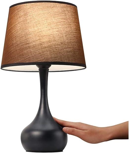 YXLZZO Lámpara de Mesa Negra Dormitorio lámpara de cabecera ...