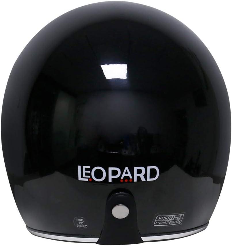 Leopard LEO-601 Casque Jet Moto avec Interne Visi/ère ECER Homologu/é Homme Femme