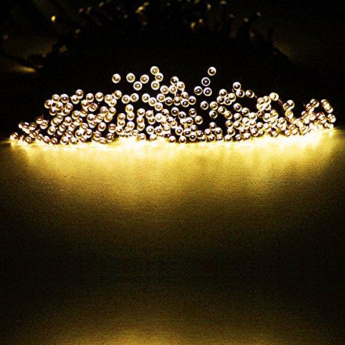AMARS(TM) 300leds Solar Garden String Lights Outdoor,100ft 30.5M Solar LED Fairy Light, Ambiance /Festival/Decoration Lighting For Homes,Christmas Tree,Wedding,Patio,Party Warm White