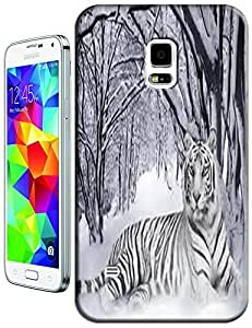 Tiger Case Cover Hard Back Cases Beautiful Nice Cute Animal hot selling cell phone cases for Samsung Galaxy S5 i9600 # 17