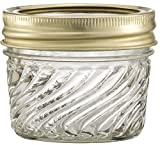 Glass Jelly Jars with Lids and Bands, Set of 12 (4 Oz) - Regular Mouth (Other Sizes and Designs Available)