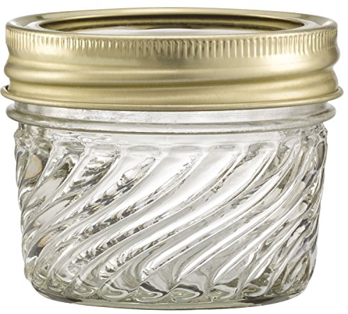 - Glass Jelly Jars with Lids and Bands, Set of 12 (4 Oz) - Regular Mouth (Other Sizes and Designs Available)