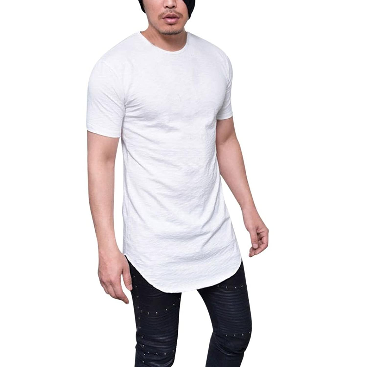 aea1a1286 ☆Casual Tops Men Slim Fit O Neck Short Sleeve Muscle Tee T-shirt Blouse  SPE969 ☆Strength and growth come only through continuous effort and struggle .