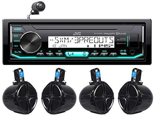 JVC KD-X35MBS Digital Media Marine Bluetooth Receiver+(4) 8