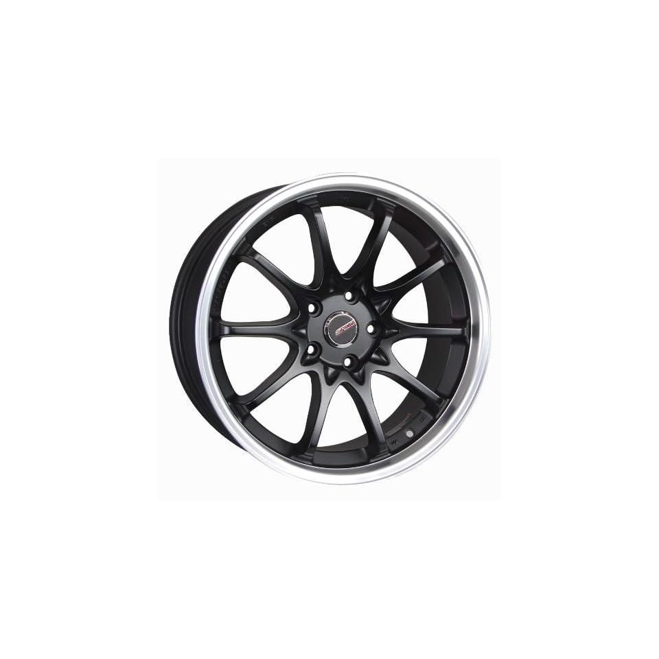 Styluz M637 Satin Black with Machine Lip Wheel (18x8/ 5x108mm)