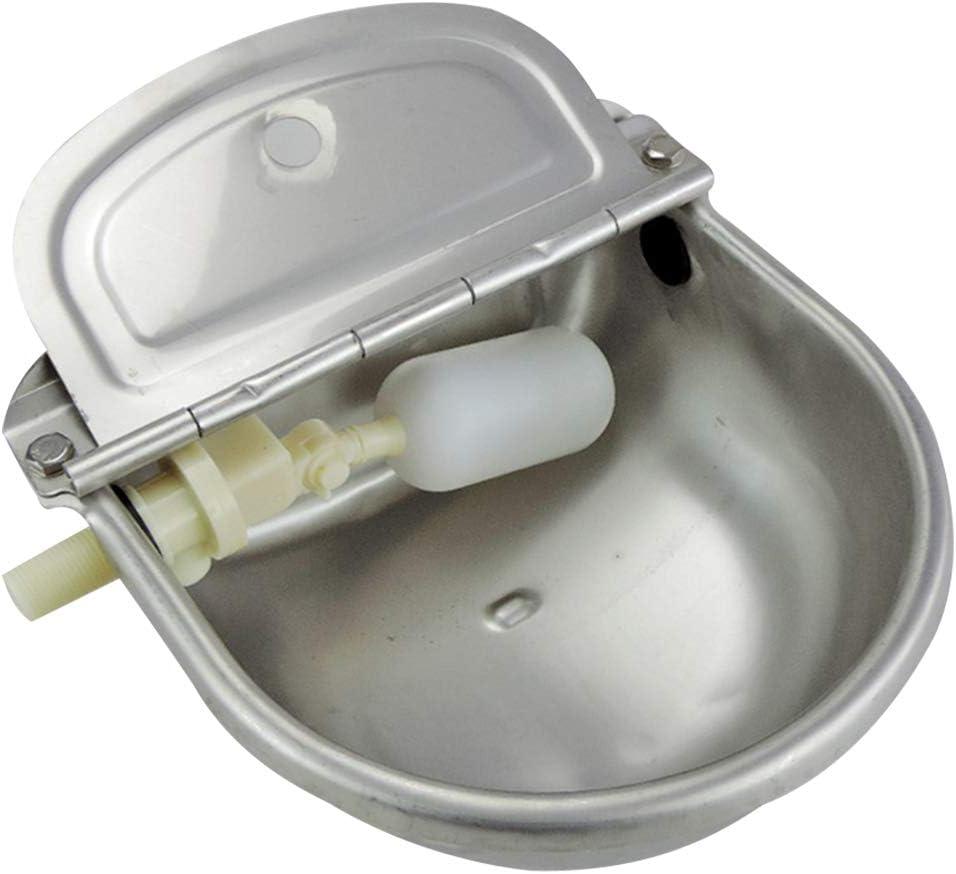 only y Dispensador de Agua – Grifo para Cuenco de Acero Inoxidable con Flotador – Bebedero automático para Caballo, Perro, Ganado, Cabra, Oveja, pie, Firme, Suministros.