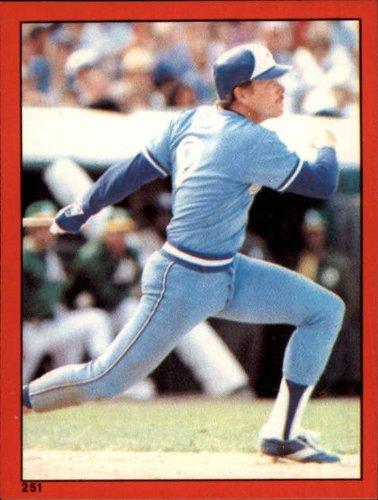 1982 Topps Baseball Sticker #251 Barry Bonnell Mint - Sticker 1982 Topps Baseball