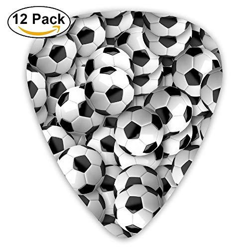 Anticso Custom Guitar Picks, Soccer Balls Football Black And White Guitar Pick,Jewelry Gift For Guitar Lover,12 Pack ()