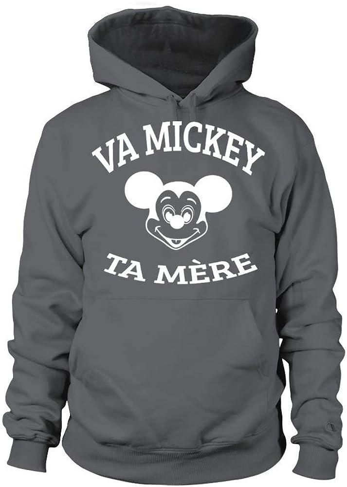 TEEZILY Sweat /à Capuche Unisex Va Mickey ta m/ère