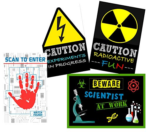 Mad Scientist Game For Halloween (Scientist Science Party Supply Decorations Invites Favors (Poster)