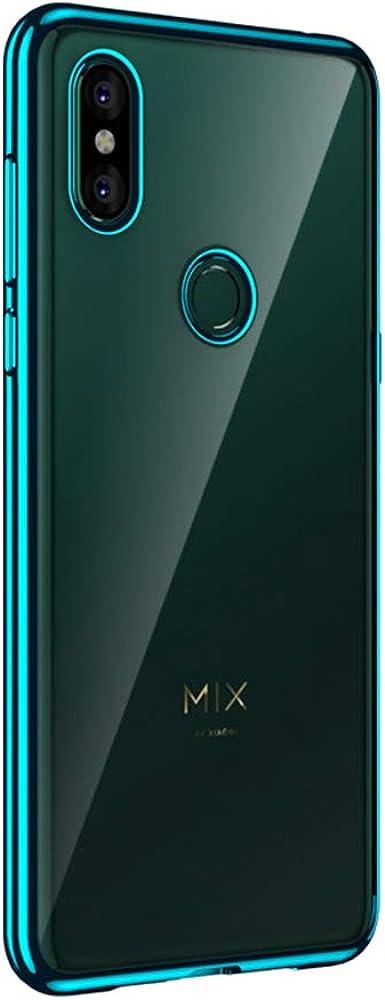 Transparente Funda para Xiaomi Mi Mix 3 Case Enchapado Carcasa Ultra-Delgado Anti-Arañazos Caso Protectora Soft Silicone Cristal Cover