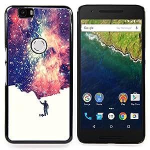 "Planetar ( Universo Pequeño Hombre simbólico Espacio de Arte Estrellas"" ) Huawei Google Nexus 6P Fundas Cover Cubre Hard Case Cover"