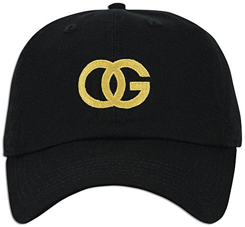 OG Embroidered Dad Hat Custom Original Ganster Fashion Baseball Cap (Black) ()