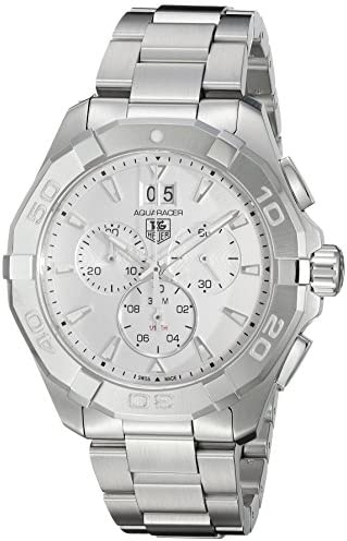 TAG Heuer Men s Aquaracer Swiss Quartz Stainless Steel Dress Watch, Color Silver-Toned Model CAY1111.BA0927