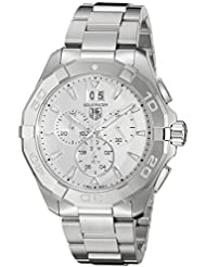 TAG Heuer Mens Aquaracer Swiss Quartz Stainless Steel Dress Watch, Color:Silver-Toned (Model: CAY1111.BA0927)