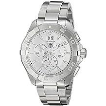 TAG Heuer Men's 'Aquaracer' Swiss Quartz Stainless Steel Dress Watch, Color:Silver-Toned (Model: CAY1111.BA0927)