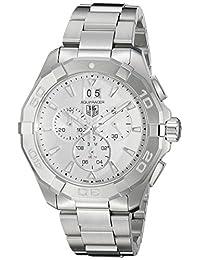 TAG Heuer Men's CAY1111.BA0927 Aquaracer Analog Display Swiss Quartz Silver Watch