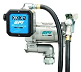 GPI 133600-58 Carbon Vane Fuel Transfer Pump With Meter, 20 gpm, 1'' NPT Inlet/Outlet