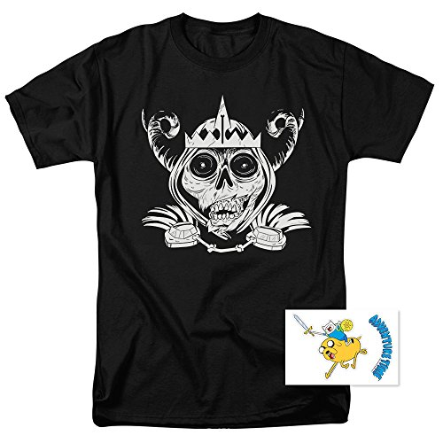 Adventure Time Skull Face Cartoon Network T Shirt & Exclusive Stickers (Adventure Time Shirt)