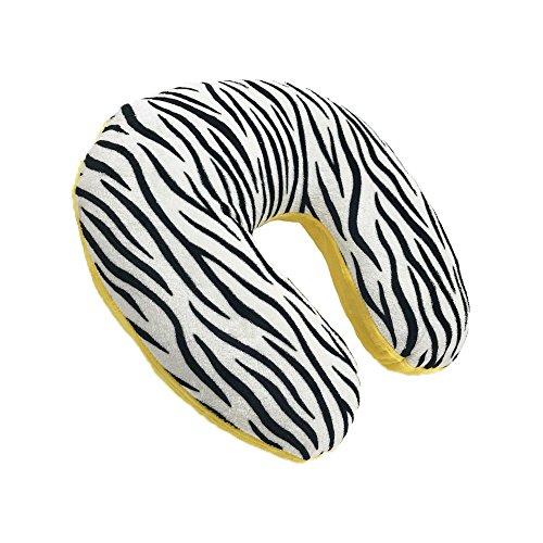 World's Best Feather Soft Microfiber Neck Pillow, Yellow Zeb