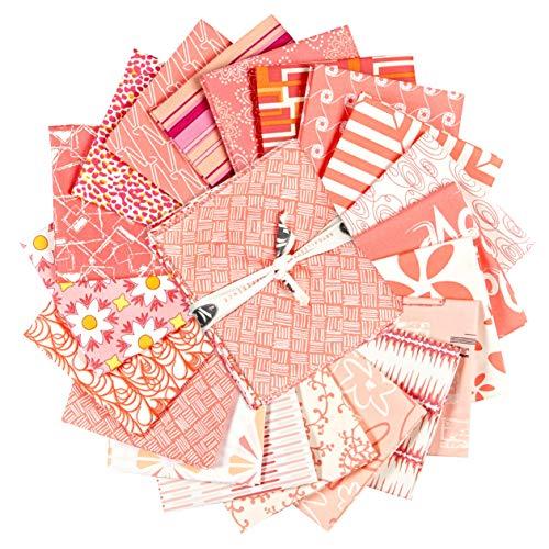 Art Gallery Fabrics Exclusive Bundle 20 Fat Quarters Coral