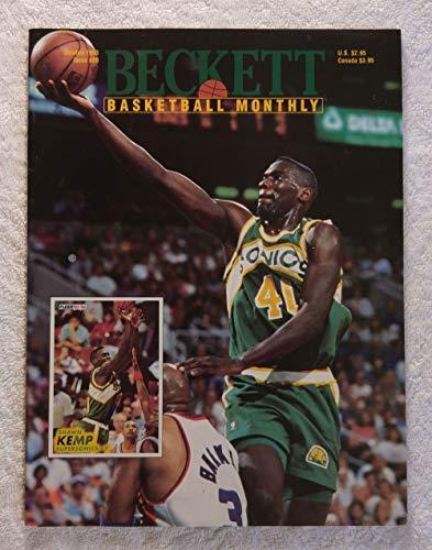 Shawn Kemp - Seattle SuperSonics - Beckett Basketball Monthly Magazine - #39 - October 1993 - Back Cover: Death of Reggie Lewis & Drazen Petrovic (Boston Celtics & New Jersey Nets)
