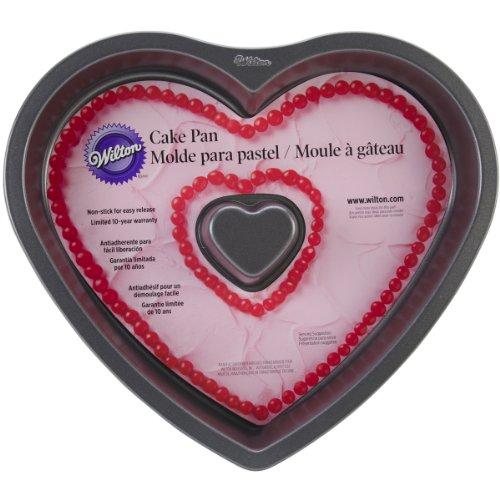 Wilton 2105-0295 Valentine Nonstick Fluted Heart Cake Pan