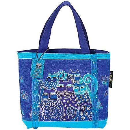 Laurel Burch Mini Bag Indigo Cats Tej