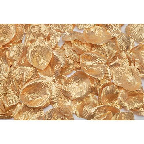 Darice Bulk Buy DIY Crafts Loose Satin Rose Petals Gold 100 pieces (6-Pack) RC-7209-101