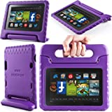 i-Blason ArmorBox Kido Series for Amazon New Kindle Fire HD 7 Inch Tablet [2013 Release / Not Compatible with Kindle Fire HD 7 2012 Release] Light Weight Super Protection Convertiable Stand Cover Case Kids Friendly (Purple)