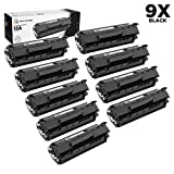LD Compatible Replacements for HP Q2612A / 12A Set of 9 Black Laser Toner Cartridges for HP LaserJet Printer Series