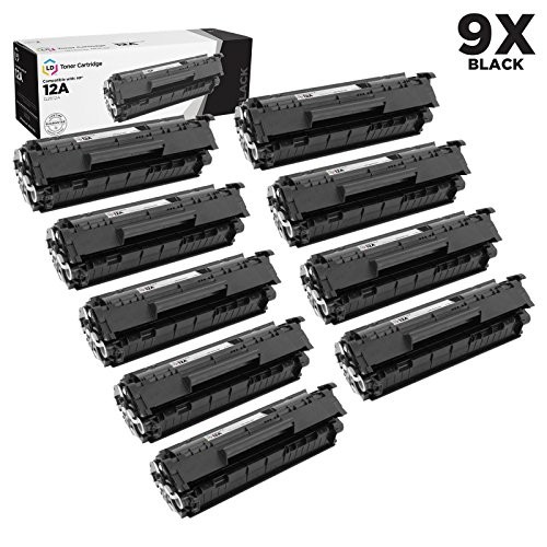Compatible Replacements for HP Q2612A / 12A Set of 9 Black L