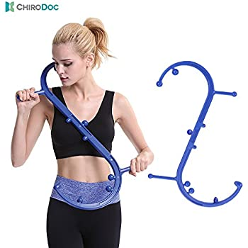 ChiroDoc Trigger Point Massager - Self Massage Therapy Tool for Lower Back and Shoulder Pain Relief - Accupressure for Deep Muscle, Myofascial Release and Back Pain - Neck and Foot Reflexology