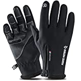 NIUBANG Winter Touch Screen Gloves Women Running Gloves Windproof Warm Non-Slip Driving Gloves Men Outdoor Sports Thermal Cycling Skiing Hiking Camping Bike Gloves (M)