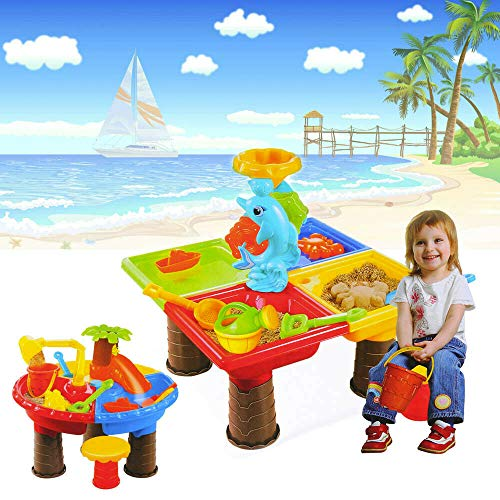 Unbranded Sand and Water Table Work Digging Pit Desk Summer Beach Kid's Toy Sandglass Play