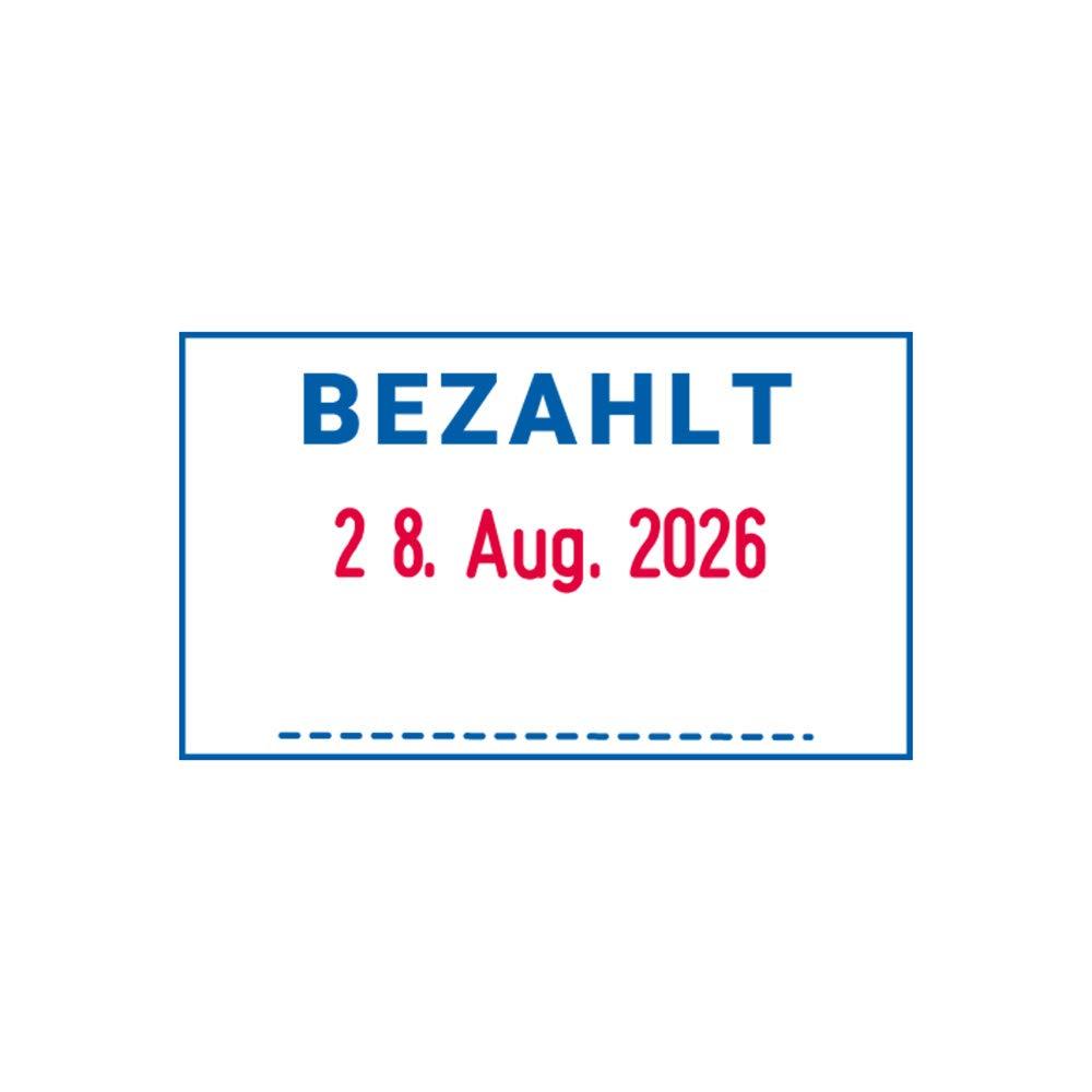 Blau und Rot mit Text Gescannt Trodat Professional Datumstempel 5430 Abdruck 41 x 24 mm selbstf/ärbend