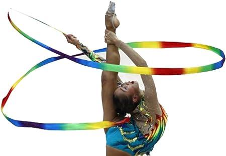 1M Dance ribbon gymnastic ballet streamer twirling rod for kids children toys VQ