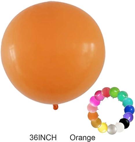 36 Inch Giant Round Light pink Purple White Yellow Orange Latex Balloons