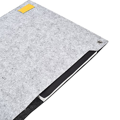 CK Club Richoose Felt Desk Mat Multifunctional Felt Computer Desk Pad Oversized Mouse Pad for Computer Laptop Keyboard with Power Cord Earphone Organizer clips(Light Grey) by CK Club (Image #3)